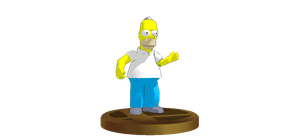 Homer Simpson SSBB Trophy by ElMarcosLuckydel96