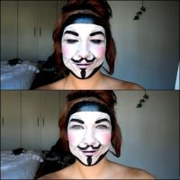 V Vendetta Make up by Arisusandasu
