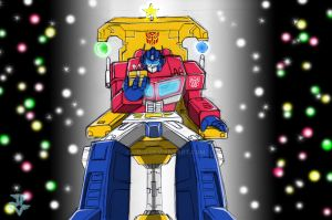 Optimus Prime says Merry Xmas by JP-V