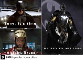 Iron man and Batman Team-up by Yvesia