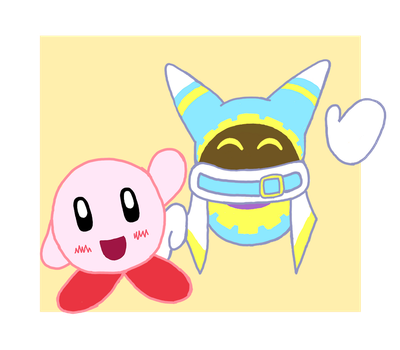 Kirby and Magolor by JamminJams