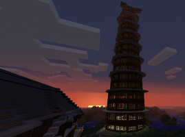Minecraft Tower 02 by SpectralDraconicWolf