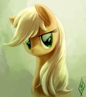 Applejack Portrait by WhiteDiamondsLtd