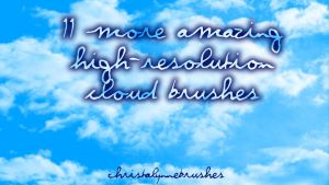 11 More High Res Cloud Brushes by christalynnebrushes