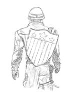 Captain America Sketch by ewrong