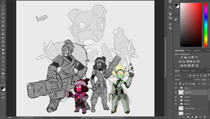 Torbernite's Insurgency Gem Concepts WIP by TheGraffitiSoul