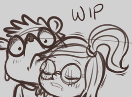 Rigby and Eileen WIP by draneas