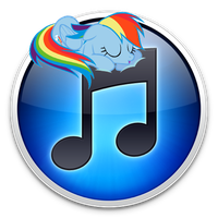 Custom Sleeping Dashie iTunes Icon by PaperDerp