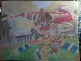 water color wukong by ekoi1995