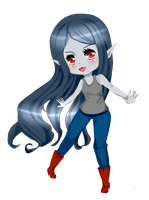 Marceline chibi  from adventure time by AmadoSan