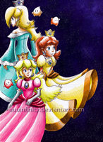 Three Princesses and 3 Lumas by UUUinfinity