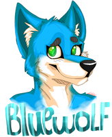 Blue wolf AT by SlummingItWithJohnny