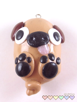 Derpy Pug Charm by kbre