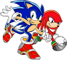 Sonic and Knuckles by footman