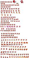megha knuckles sonic battle sprite sheet by tfpivman