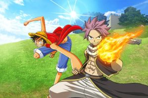 Natsu Dragneel And Monkey D.Luffy by MuhammadIdlan