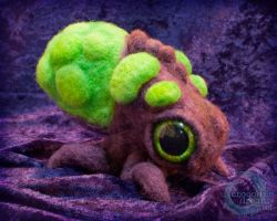 Needle-felted Baneling by crocodiledreams
