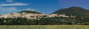 Panoramic Photo of Assisi by PluviusAestivus