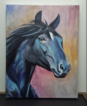 Horse acrylic by TheJennaBrown