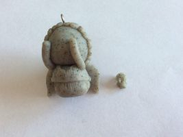 REALLY REALLY Tiny Weeping Angel by AlphaChoconess95
