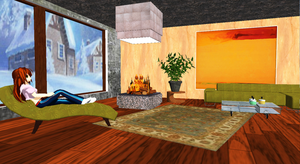 [MMD] Deep in Thought: Modern Living Room DL by OniMau619