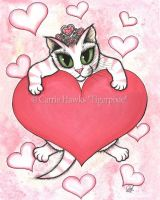 Kitten With Heart by tigerpixieart