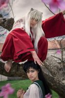 Inuyasha and Kagome Cosplay 2015 by WhiteRavenCosplay
