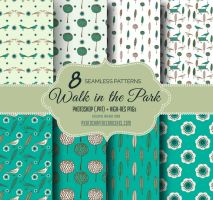 8 Green Nature Themed Seamless Photoshop Patterns by fiftyfivepixels