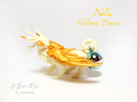 Nella, Goldwing Dragon by rosepeonie