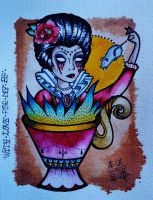 lady in cup by ShellyZTrueheartInk