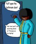 YFM: Taking a long time in the Bathroom by VickyJ