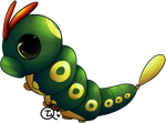 Dizhach the Caterpie by TheLonelyQueen