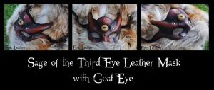 Leather Sage of the Third Eye w/ Goat Glass Eye by Epic-Leather