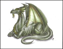 Old dragon by supernaturalsarah