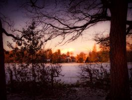 Tree framed dawn scence STOCK by needanewname