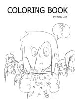 Coloring book COVER (sketched) by Arrow55555