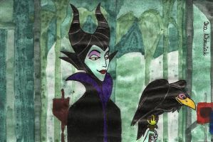 Maleficent by izabunny