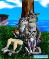 Art Trade - Saph and Ari: Family Group by DCLeadboot