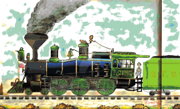 4-6-0 Steam Locomotive with a face 02 by dinodanthetrainman