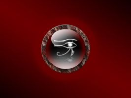 eye of ra black and red by butchen