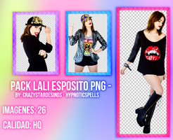 Photopack PNG | Lali Esposito by HypnoticSpells