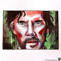 Portrait of Stephen Strange #2 by lazy-brush