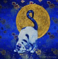 Blue Moon - Acrylic Painting by AstridBruning