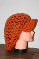 Orange Open work Cap by LilithsSmile