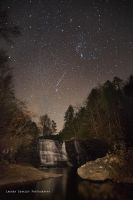 The Cascade Falls at Night by LaurenCoakley