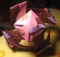 Origami Santiago Flower Ball by musicmixer112