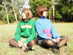 First and Last Human Undertale cosplay by jayceegiray
