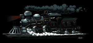 Steam train by lunarmonkey