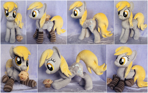 Derpy Plushie with socks and muffin by ButtercupBabyPPG