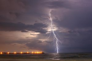 lightning in first plane by attilakel
